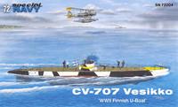 CV-707 Vesikko WWII Finnish U-Boat. 1/72