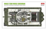 M4A3 76W Sherman HVSS with Full Interior	 1/35