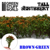 Tall Shrubbery Brown-Green