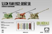 5.5cm Flak (VG2) Gerät 58 Autom. Flugabwehrkanone  1/35