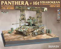 Panther Ausf.A with Full Interior & Zimmerit + 16t Starbokran + Diorama Base  1/48