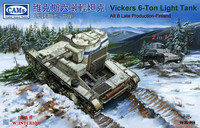 Vickers 6t Light Tank Alt B Late Production FINLAND with Interior Parts