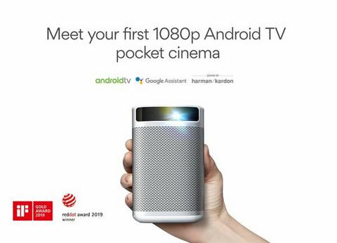 Xgimi MoGo PRO 1080P Android TV kannettava Projektori akulla.