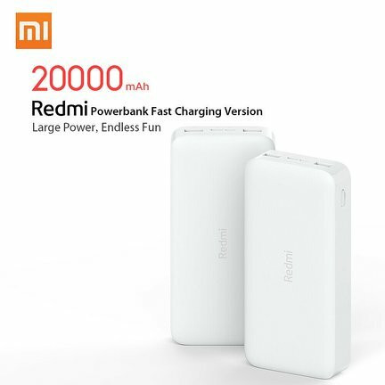 Xiaomi Redmi Power Bank 20000mAh with 18W Fast Charge - White