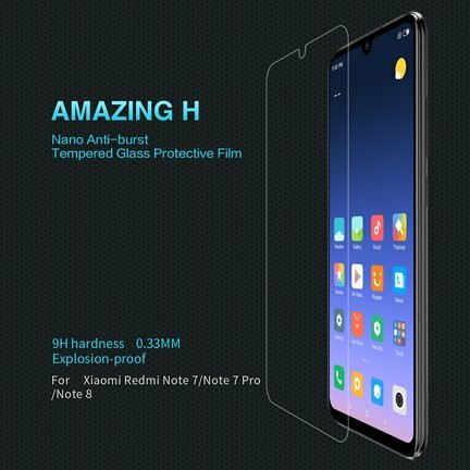 Nillkin Amazing H Anti-burst Tempered Glass - Xiaomi Redmi Note 7