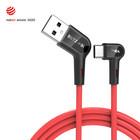 Blitzwolf® - 3A USB A to Type-C data/latauskaapeli 90°asteen taitetulla liittimellä, pituus 1,8m