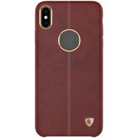 Nillkin Englon Leather Cover Brown, iPhone X, XS