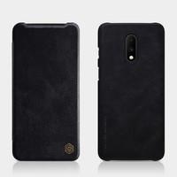 Qin Leather Flipcase Black, One Plus 7