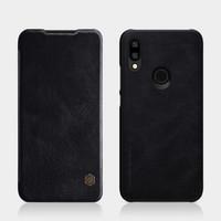 Qin Leather Flipcase, Redmi 7 - Black