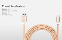 Nillkin Elite Cable USB 3.0 to Type-C 1m - Gold