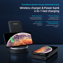 Nillkin PowerMount Wireless Charger 10W & Power bank 10000mAh & Dock