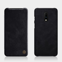 Qin Leather Flipcase Black, One Plus 7 Pro