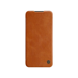 Qin Leather Flipcase Black, Redmi Note 8 Pro - Brown