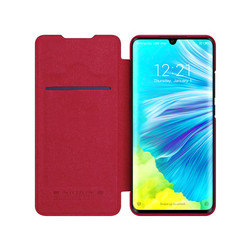 Qin Leather Flipcase Black, Redmi Note 8 Pro - Red