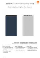 Mi Fast Charge Power Bank 3 - 10000 mAh 18W - Silver