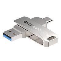 BlitzWolf® 2 in 1 Type-C / USB 3.0 Flash Drive 64GB kahdella liitännällä, USB3.0 High Speed, Tyylikäs muotoilu, Kätevä 360° taittomekanismi USB -muistitikku