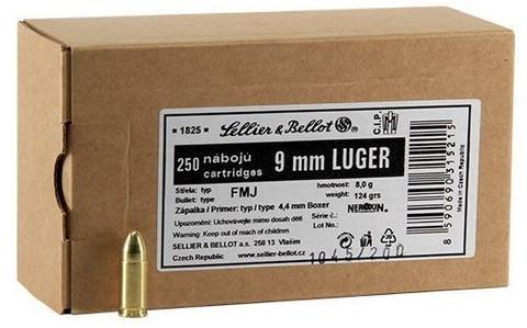 9mm SELLIER&BELLOTBULK 250 kpl