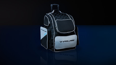 True varustekassi ( roller bag ) Musta / hopea