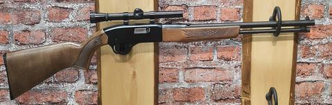 22Lr. Winchester Model 190 puolari, kunto hyvä, kiikari kuuluu hintaan.