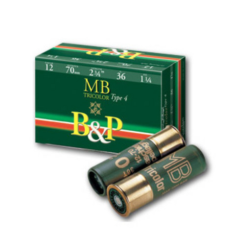 B&P MB TriColor 36g 12/70  (muovihylsy + pahvitulppa)