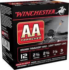 Winchester AA Tracker 12/70. no: 7,5  harjoituspanos oranssilla trackerillä!