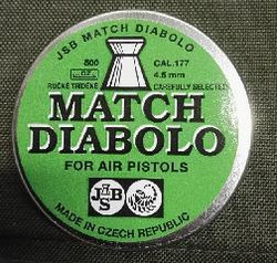 JSB Match Diabolo 4,5mm pistooli