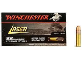 Winchester Laser 22 LR Copper 418 m/s