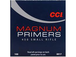CCI Magnum Small  Rifle nalli #450. 100kpl