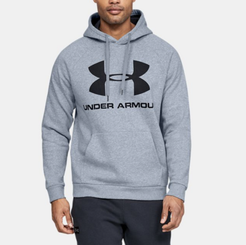 M Under Armour Rival Hoody Steel Light