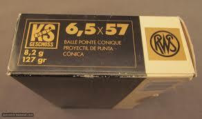 RWS Dynamit Nobel 6,5 x 57 / 8,2g / 127gr