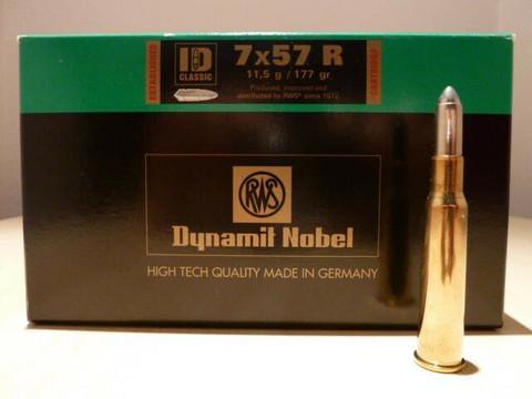 RWS Dynamit Nobel 7 x 57 R / 11,5g / 177 gr /