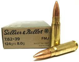 Sellier & Bellot 7,62 x 39 / 8,0g / 124grs /