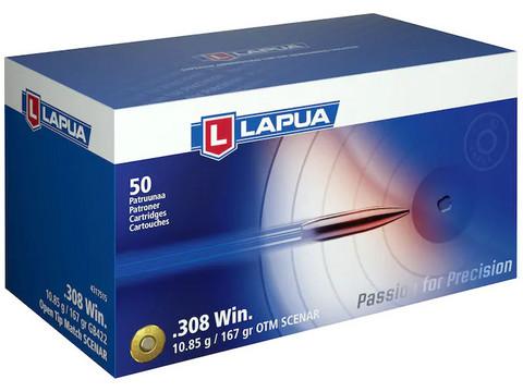 Lapua .308 Win. / 10,85g / 167grs GB422 / Open tip match SCENAR