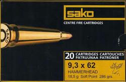 Sako 9,3x74R Hammerhead SP / 18,5g / 286grs