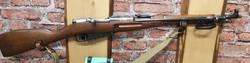 Sotilaskivääri pistimellä 7,62 x 53R numerotarkka