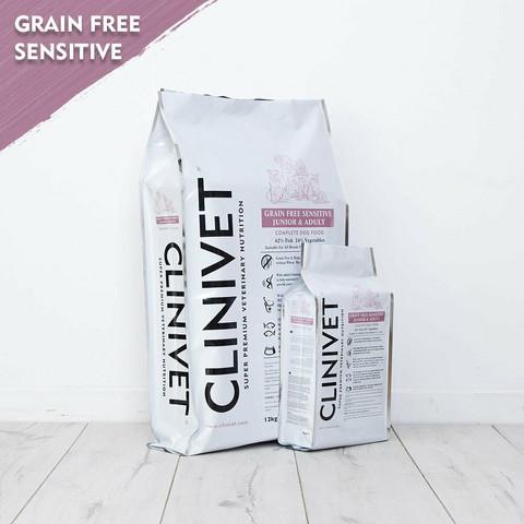 CLINIVET Grain Free Junior & Adult Sensitive Fish 12 kg - Viljaton kala-kasvis koiranruoka