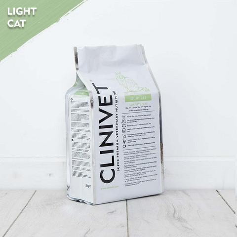 CLINIVET Light Cat 1,5 kg - Kevytruoka ylipainoisille ja leikatuille kissoille