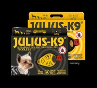 JULIUS-K9® Punkkien ja kirppujen ultraäänikarkoitin kaulapantaan tai valjaisiin