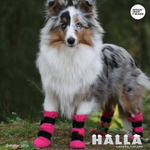 HALLA-Fleecetossut pinkki