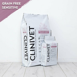 CLINIVET Grain Free Junior & Adult Sensitive Fish 2 kg - Viljaton kala-kasvis koiranruoka