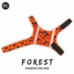 FOREST Koiran huomioliivi, oranssi-musta