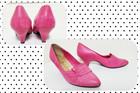 Vintage pinkit korkokengät nahkaa, 36-37