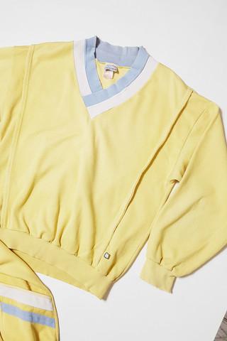80-90-luvun vaaleankeltainen Finnwear-pusero, miesten L