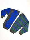 70-80-luvun sininen neulepusero, S-L