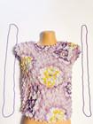90-luvun laventelinvioletti kukkapusero, XXS-M