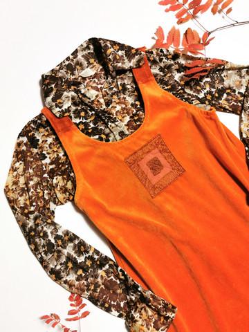 Ruotsalainen 70-luvun kukikas paitapusero, 38-40