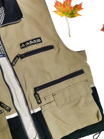 90-luvun miesten Adidas ulkoiluliivi, L-XL