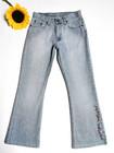 90-luvun kukkalahkeiset boot cut -farkut, M