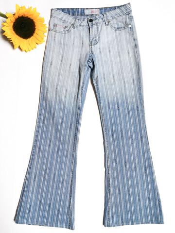 90-00-luvun sateenkaari-raidalliset boot cut -farkut, S