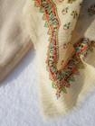 Vintage paisleykuvionen villahuivi kultaraidoilla